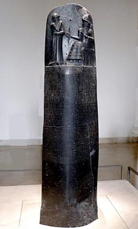 Code of Hammurabi stele (1792-1750 BC). (Mbzt/Wikimedia Commons) The Code of Hammurabi contained laws and punishments in the ancient Mesopotamian world.