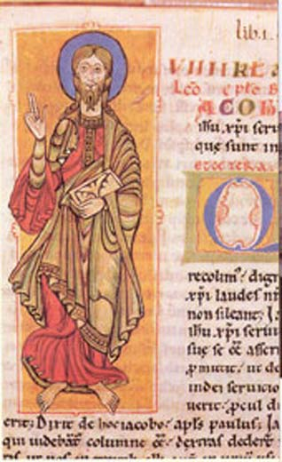 Codex Calixtinus showing Saint James the Great