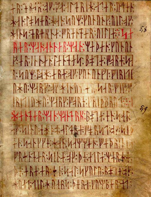 Codex Runicus, a codex written in Medieval runes