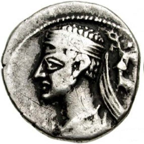 Coin of Pacorus I of Parthia.