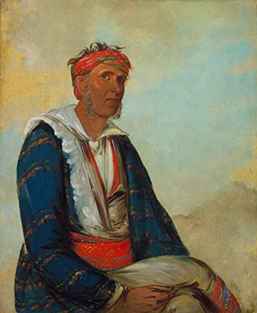 Cól-lee, a Band Chief, 1834. (Public Domain)