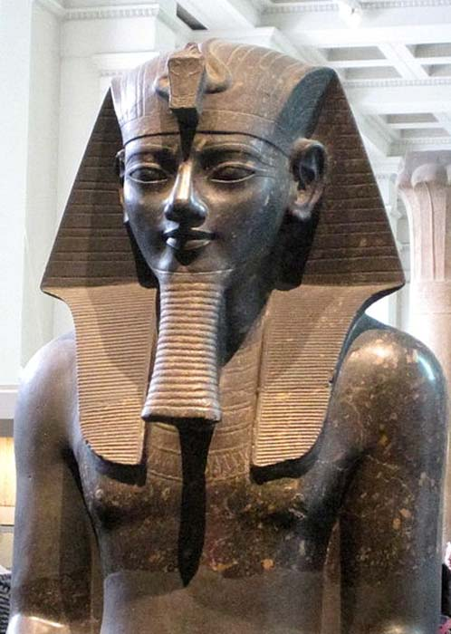 Colossal statue of Amenhotep III in the British Museum.
