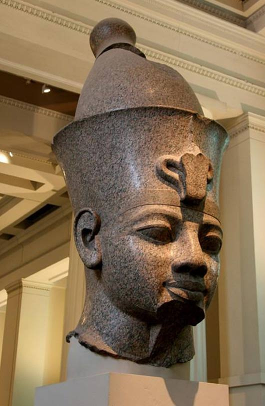 Colossal statue of Amenhotep III.