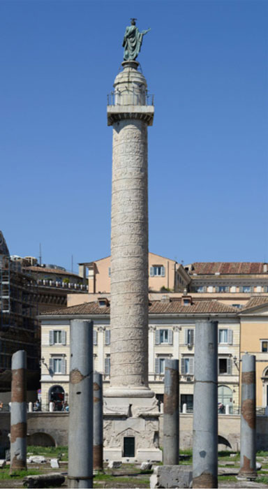 The Column of Trajan, in Trajan's Forum, Rome