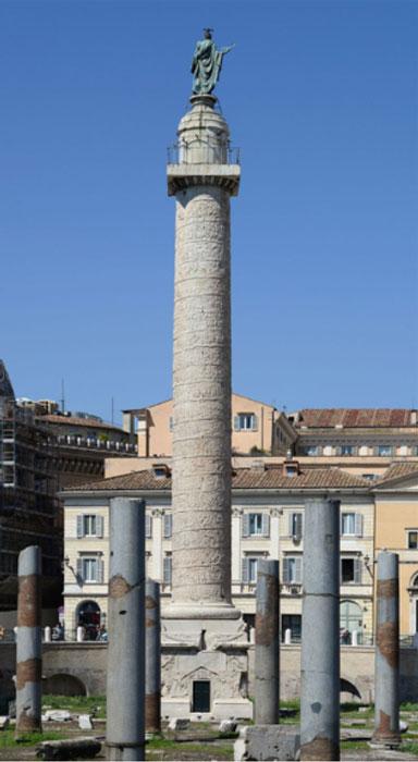 The Column of Trajan, in Trajan's Forum, Rome
