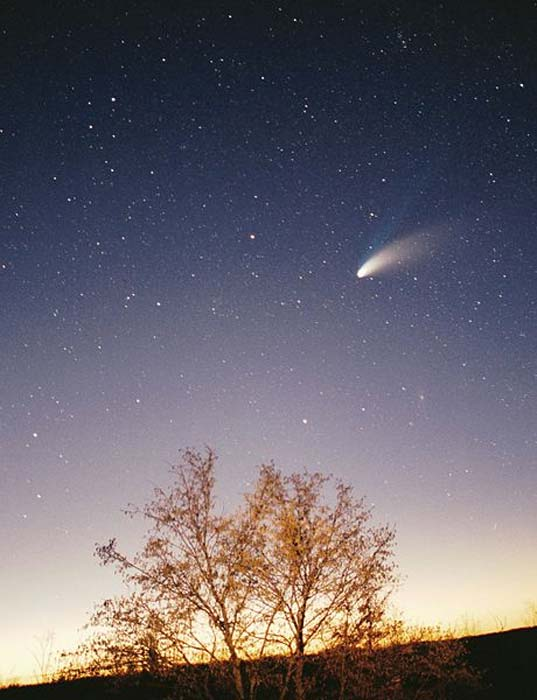 Comet Hale-Bopp taken in the vicinity of Pazin in Istria/Croatia