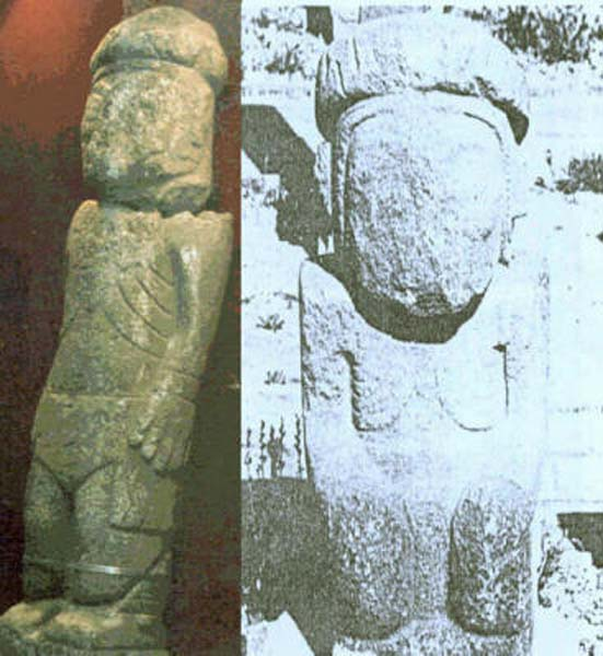 Comparison of the Pokotia monolith with a figure from Tiahuanaco. (Author provided)