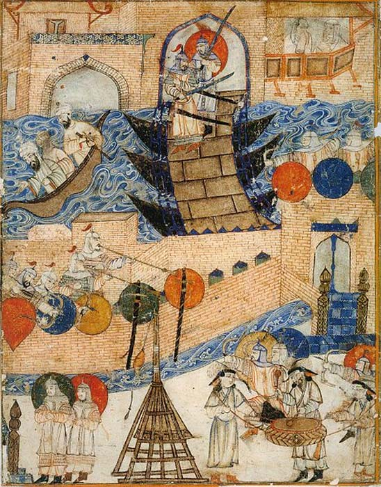 Conquest of Baghdad by the Mongols 1258. (Public Domain)