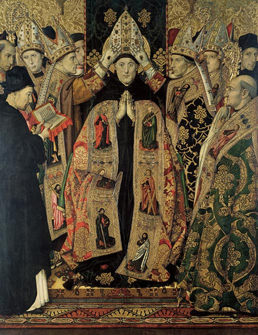 Consecration of Saint Augustine. (Circa 1463-1470/1475) by Jaume Huguet.