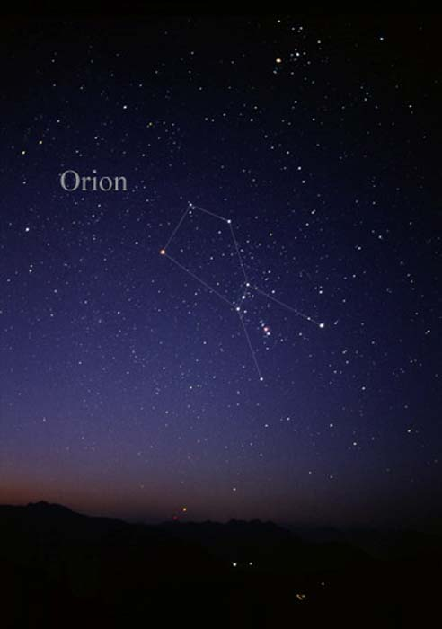 Constellation Orion as it can be seen by the naked eye. ( CC BY SA 3.0 )