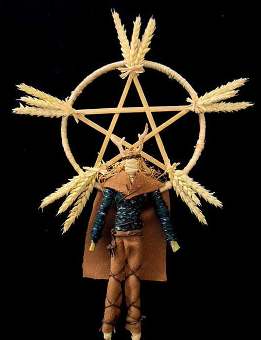 Contemporary Male Corn Dolly Representing the Celtic Sun God Lugh
