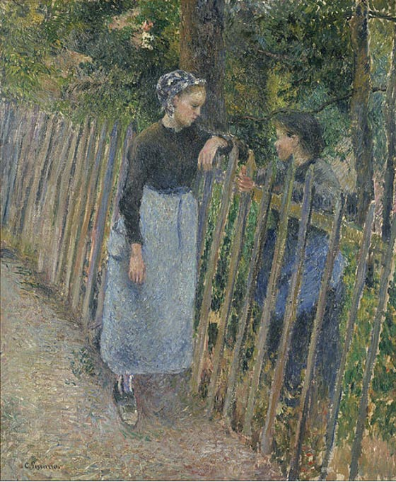 Conversation (1881) Camille Pissarro
