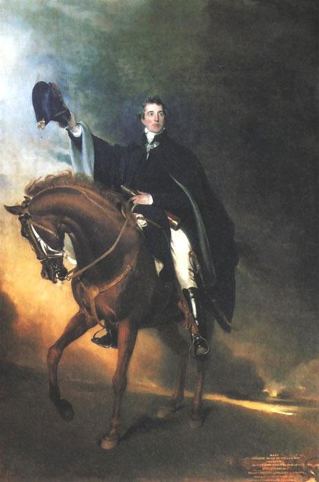 Wellington on Copenhagen, painted by Thomas Lawrence.