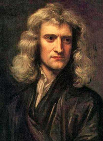 Copy of a portrait of Sir Isaac Newton by Sir Godfrey Kneller (1689) (Public Domain)
