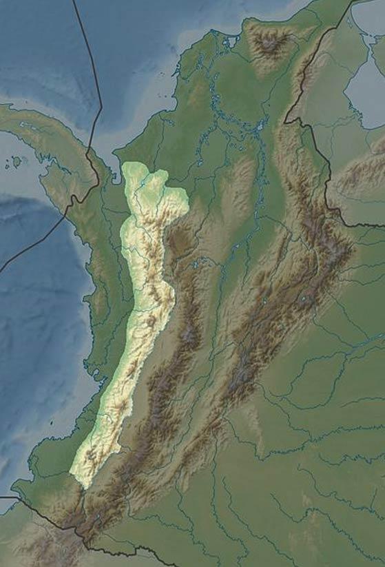 The Cordillera Occidental in Colombia.