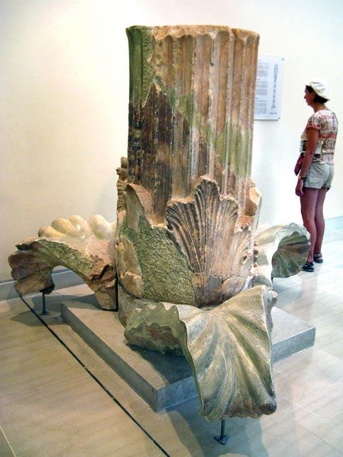 The base of a Corinthian column