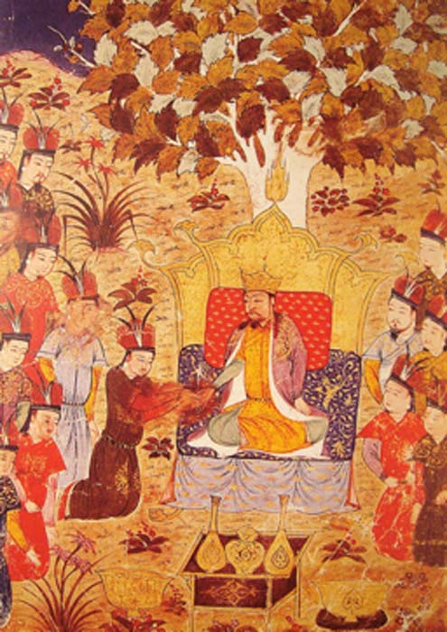 Coronation of Ogedei Khan in 1229 new ruler of the Mongol Empire. (World Imaging / Public Domain)