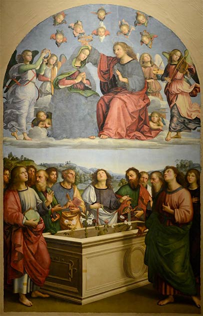 'Coronation of the Virgin' by Raphael. (CC BY SA 4.0)