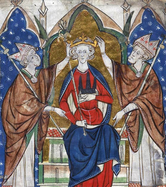 Coronation of King Henry III. (Public Domain)