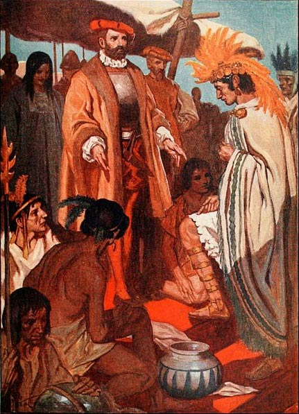 Cortes appoints La Malinche as his interpreter.