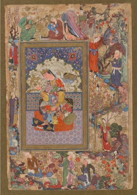 Seated Princess, attributed to Muhammad Sharif Musawwir