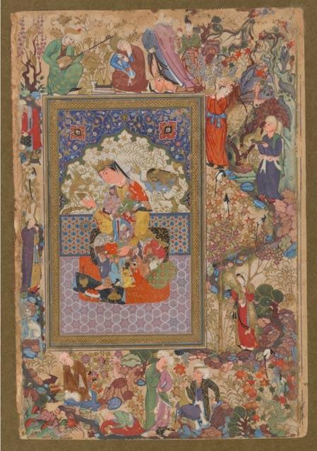 Seated Princess, attributed to Muhammad Sharif Musawwir