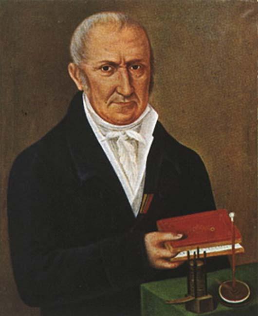Count Alessandro Volta (1745 - 1827). Born in Como, Italy.