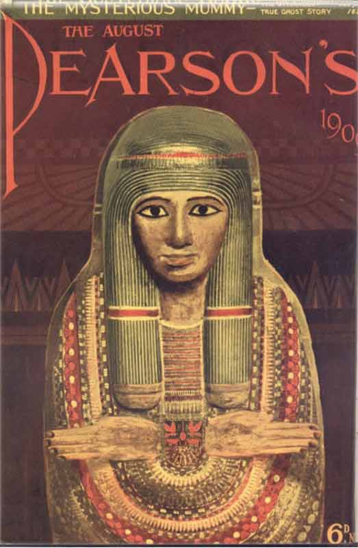 Cover of 1909 Pearson's Magazine featuring the story of the Unlucky Mummy