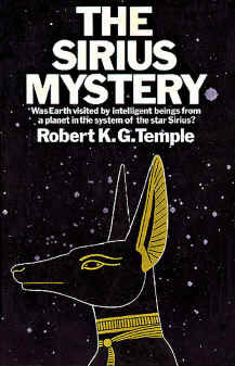 "Cover of the first edition of Robert Temple's book ""The Sirius Mystery."""