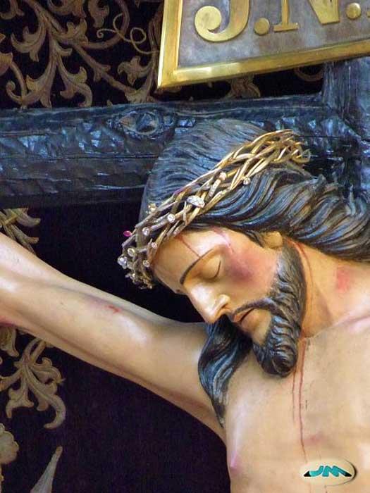 Detail of the Cristo de la Victoria in Vigo, Spain.