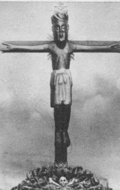 Cristo de las Batallas crucifix before restoration (Fundación Joaquín Díaz / CC BY-SA 3.0)