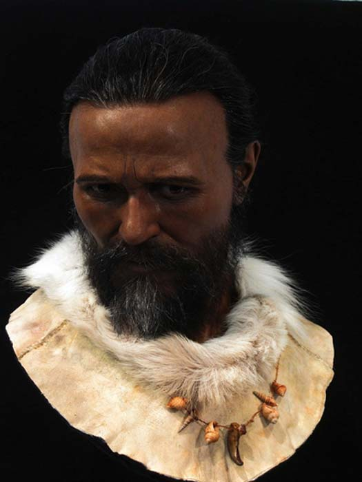 Cro-Magnon man at the Reconstruction Exhibition. (Royal Pavilion & Museums; Brighton & Hove)