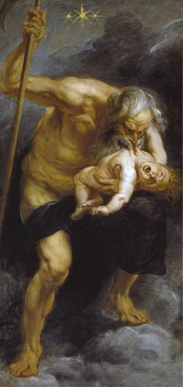Cronos devours one of his sons by Peter Paul Rubens, c 1638