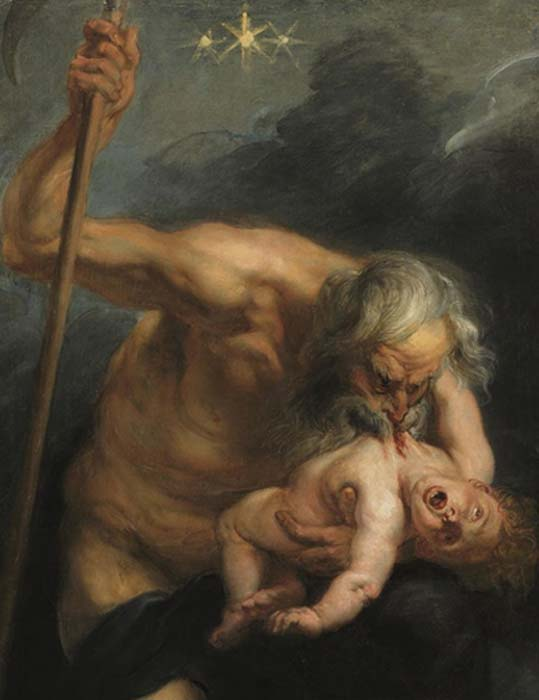 Cronus devours one of his sons by Peter Paul Rubens (public domain)