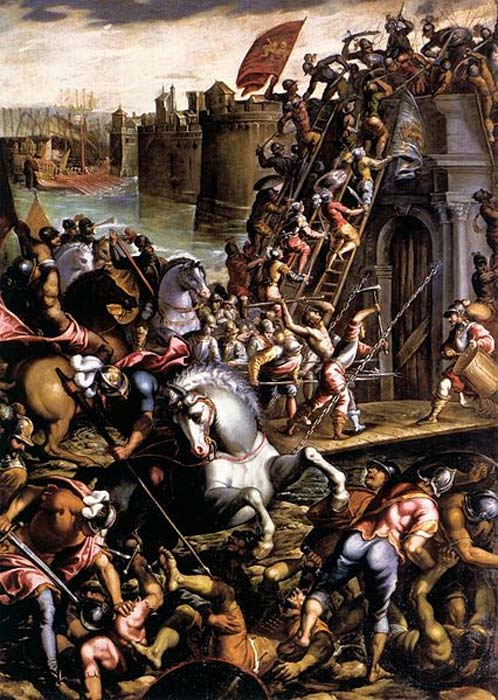 'The Crusaders Conquering the City of Zara.' (Public Domain)