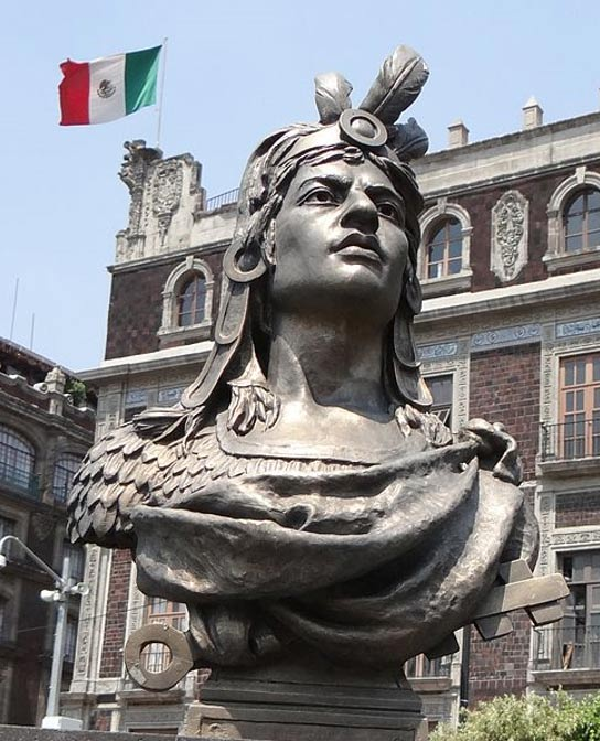 Bust of Cuauhtémoc in Zocalo, Mexico City.