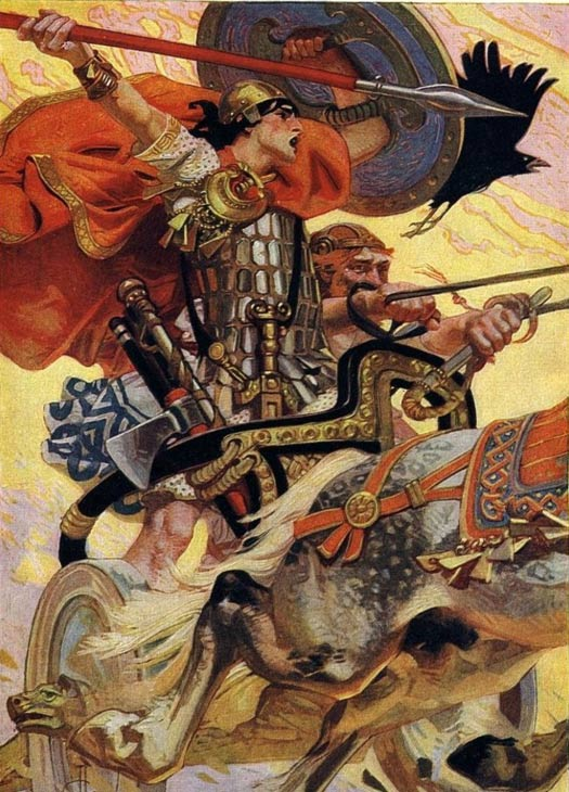 Cúchulainn, is the central character of the Ulster (Ulaid) cycle in the in medieval Irish mythology and literature