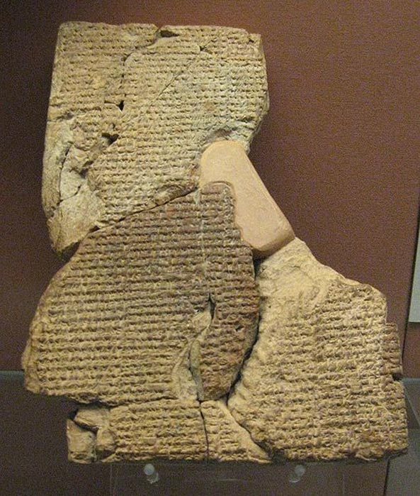 Cuneiform tablet with the Atrahasis epic in the British Museum.