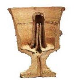 Cut-through illustration of a Pythagorean cup.