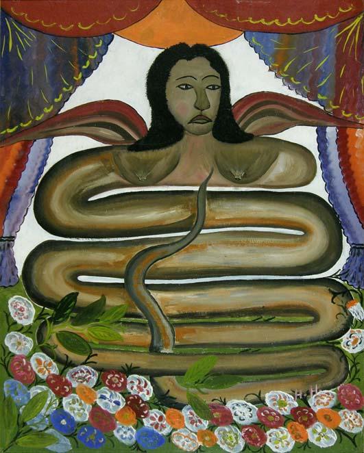 Damballah La Flambeau, by the Haitian artist Hector Hyppolite.
