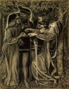 How They Met Themselves, Dante Gabriel Rossetti