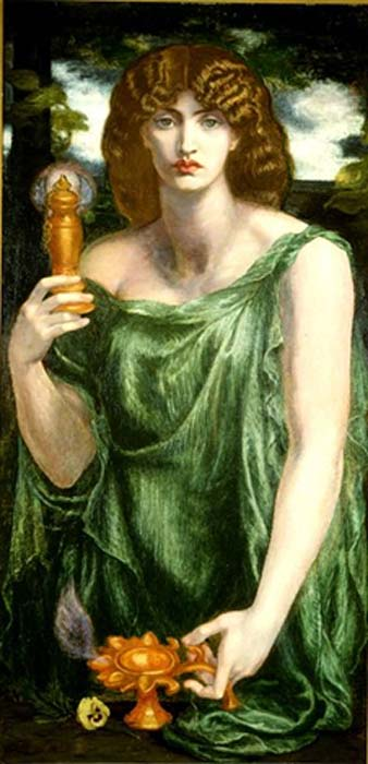 Dante Gabriel Rossetti's depiction of Mnemosyne.