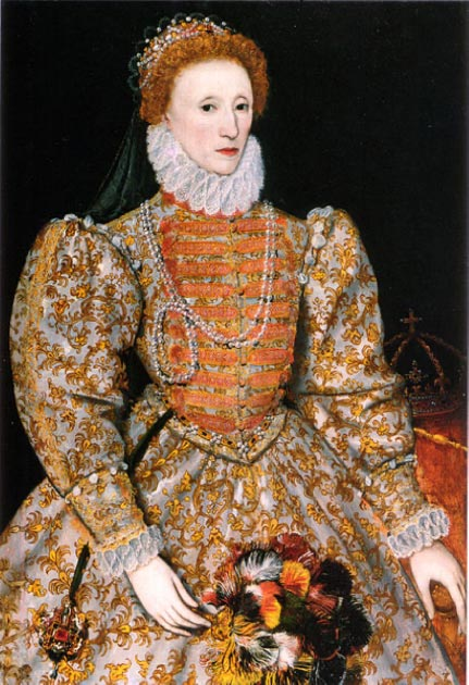 "The ""Darnley Portrait"" of Elizabeth I of England. (Public Domain)"