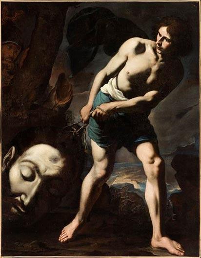 David with the head of Goliath, Andrea Vaccaro (1635) (Wikimedia Commons)