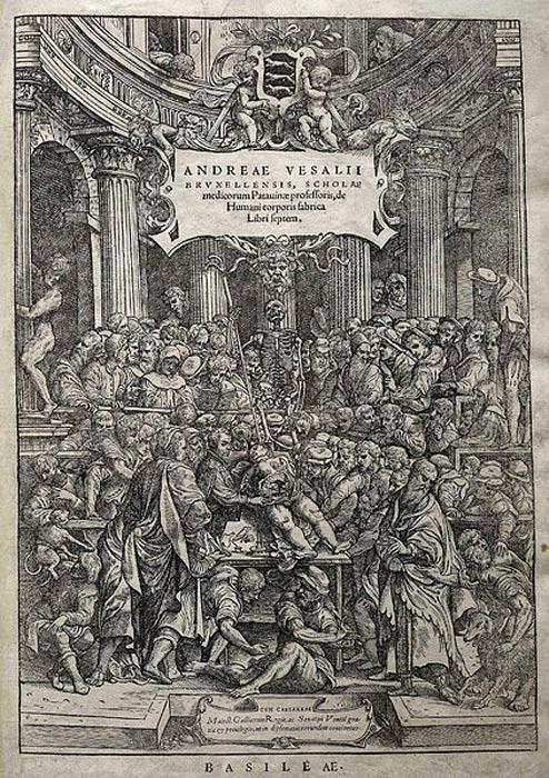 De Humani Corporis Fabrica'' by Andreas Vesalius.