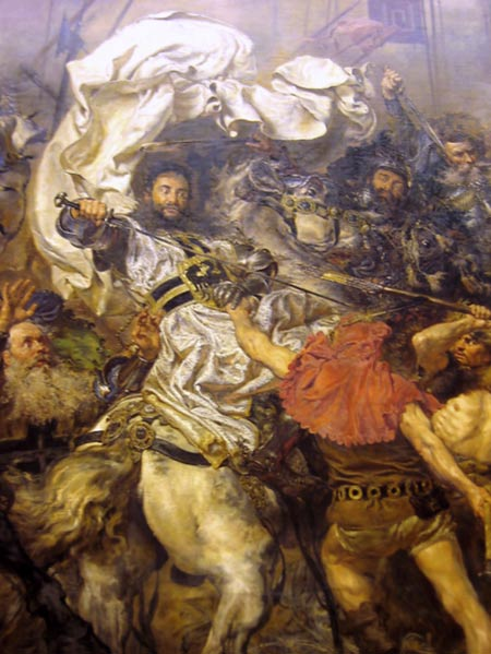 Death of Ulrich von Jungingen, detail of the painting by Jan Matejko, 1878.
