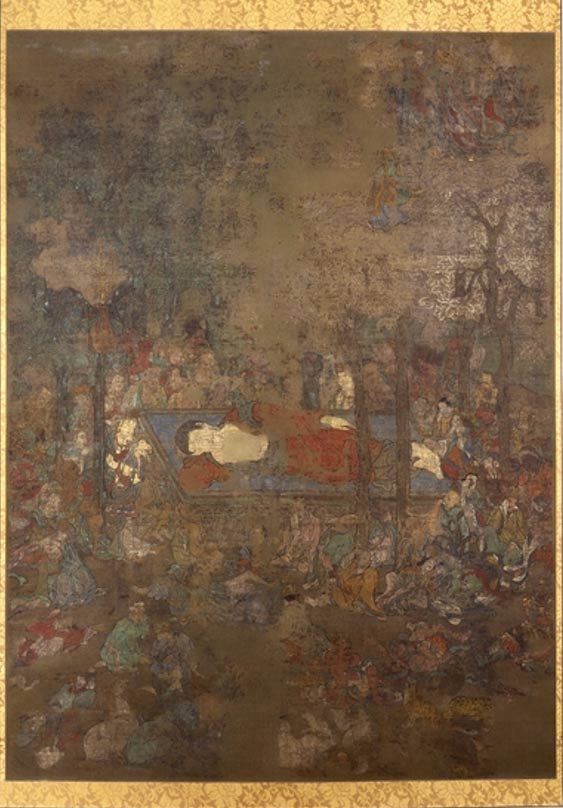 The Death of the Buddha, a hanging scroll painting at the British Museum.