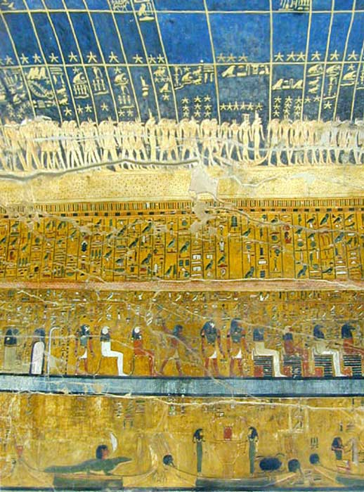 Decorations in KV17, Seti I's tomb.