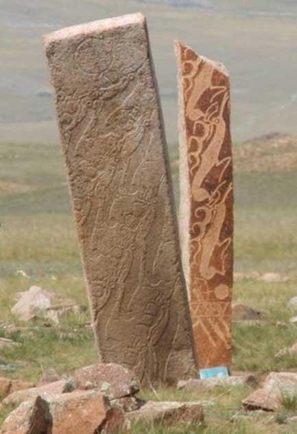 Deer stone site near Mörön in Mongolia. (CC BY-SA 3.0)
