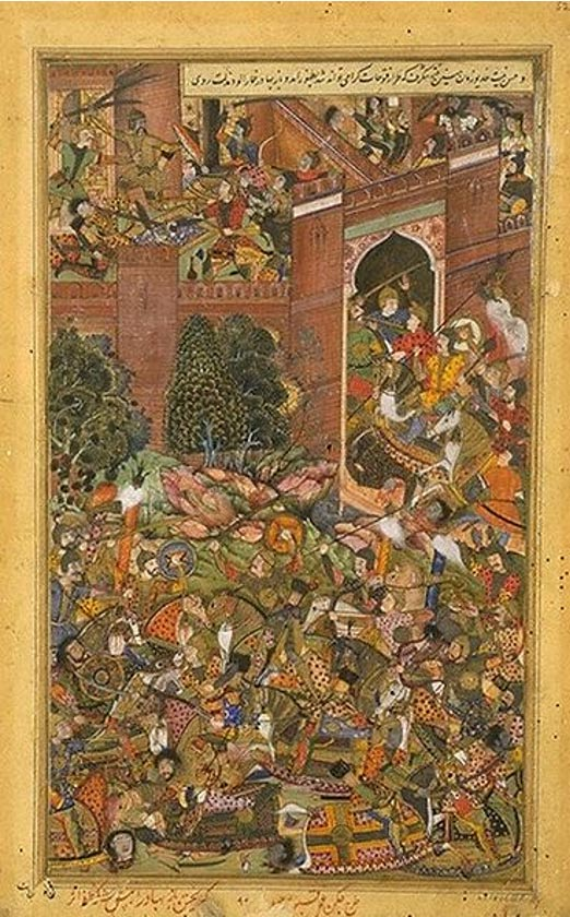The Defeat of Baz Bahdur by the Mughal Troops (1590-1595) Jagan, Kabu
